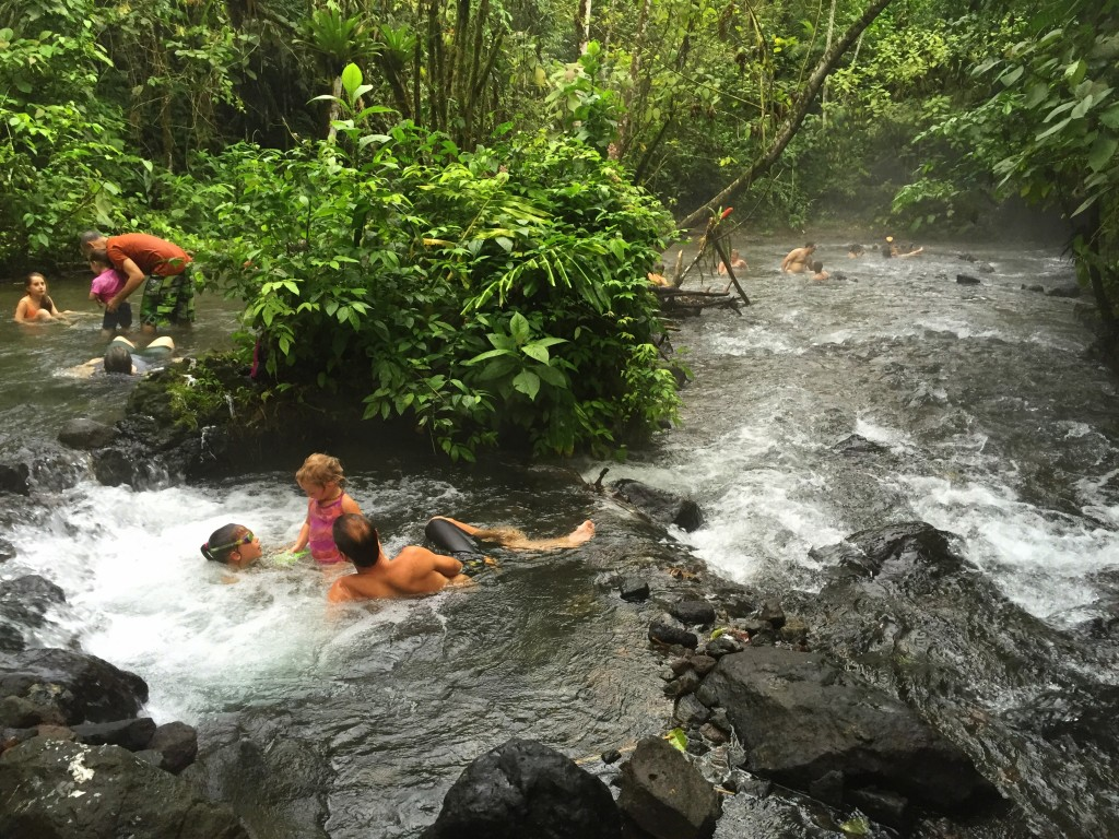 This was an incredible hot springs we found. While there were many options that were over $35/head, we simply parked on the side of the road and had a blast in this incredible creek where the springs ran down - Jules learned to swim here!