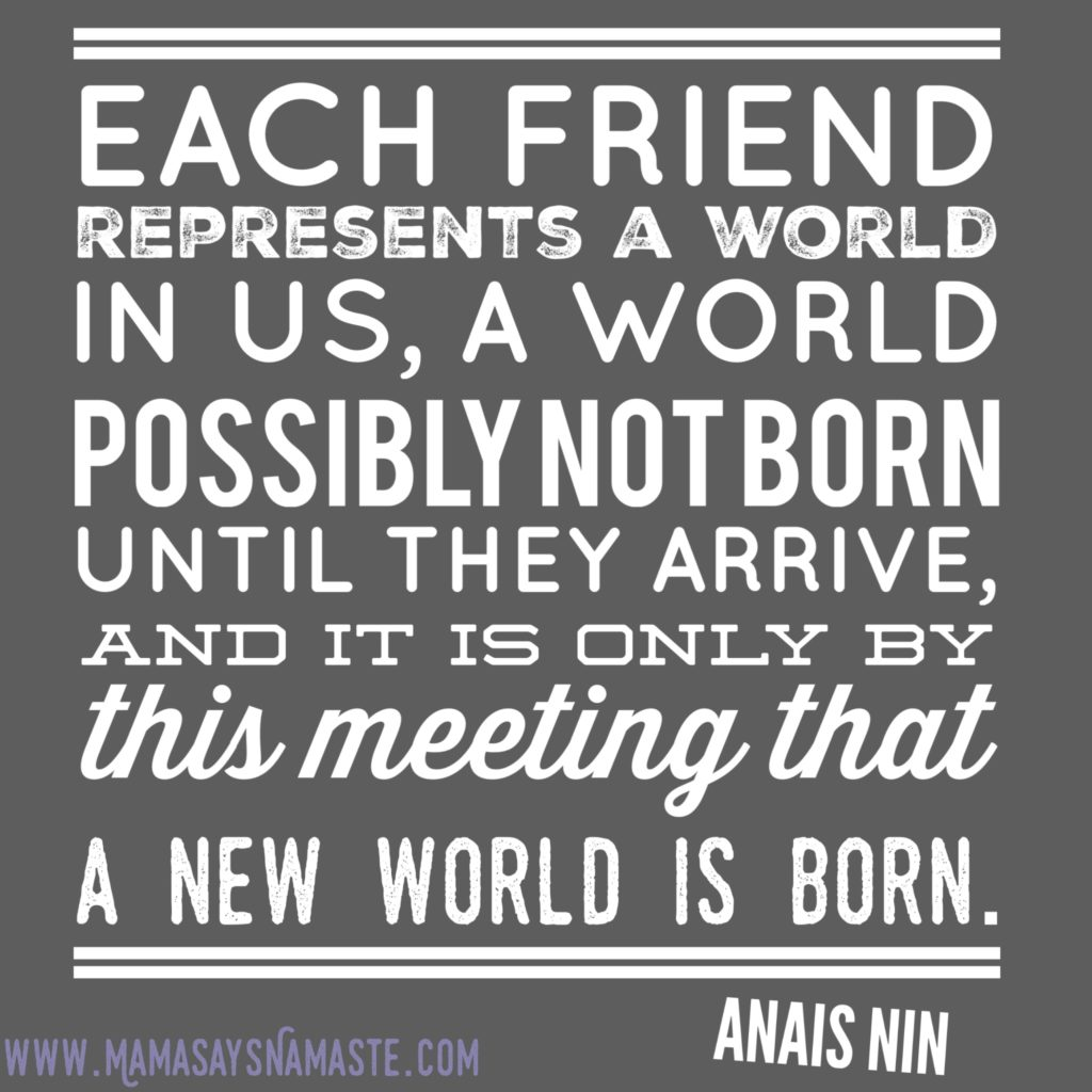 friendship anais nin tasks