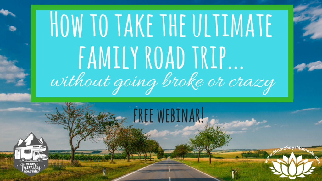 How to take the ultimate family road trip without going broke or crazy. Free webinar