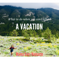 what do to when you can't afford a vacation