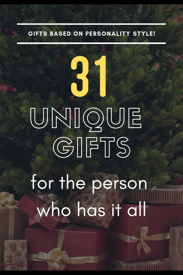 gifts ideas for personality type