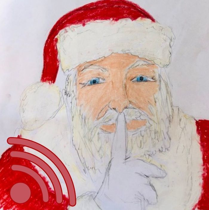 Picture of Santa Claus drawn by 13-year-old Clara Logsdon